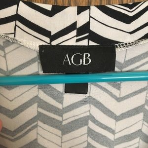 AGB Dresses - AGB graphic faux wrap dress